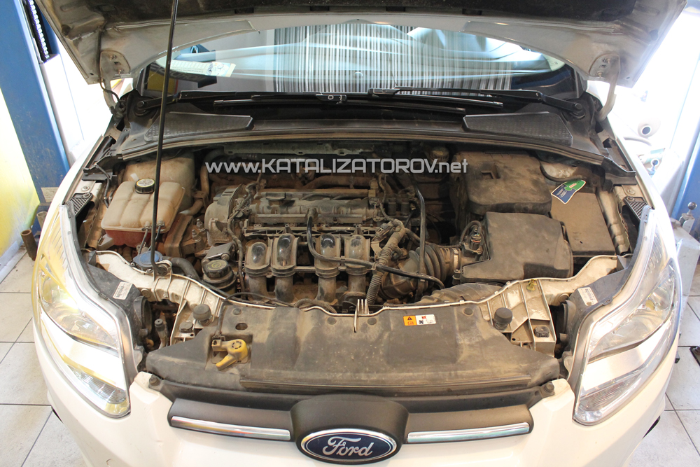 Удаление катализаторов на Ford Focus 3 1.6i - Катализаторов.НЕТ