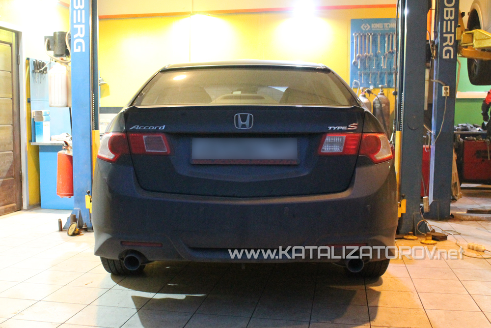 Удаление катализаторов на Honda Accord 2.4 i-vtec - Катализаторов.НЕТ