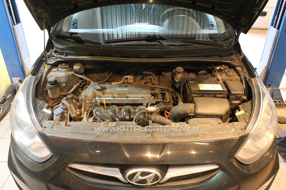 Удаление катализаторов на Hyundai Solaris 1.6i - Катализаторов.НЕТ