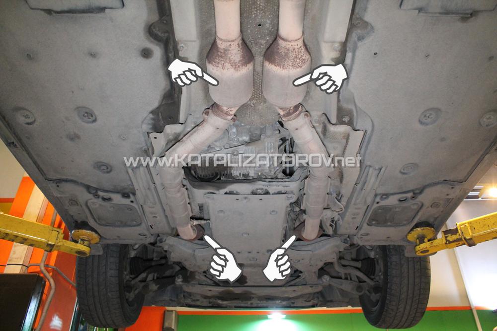 Удаление катализаторов на Lexus LS460 - Катализаторов.НЕТ