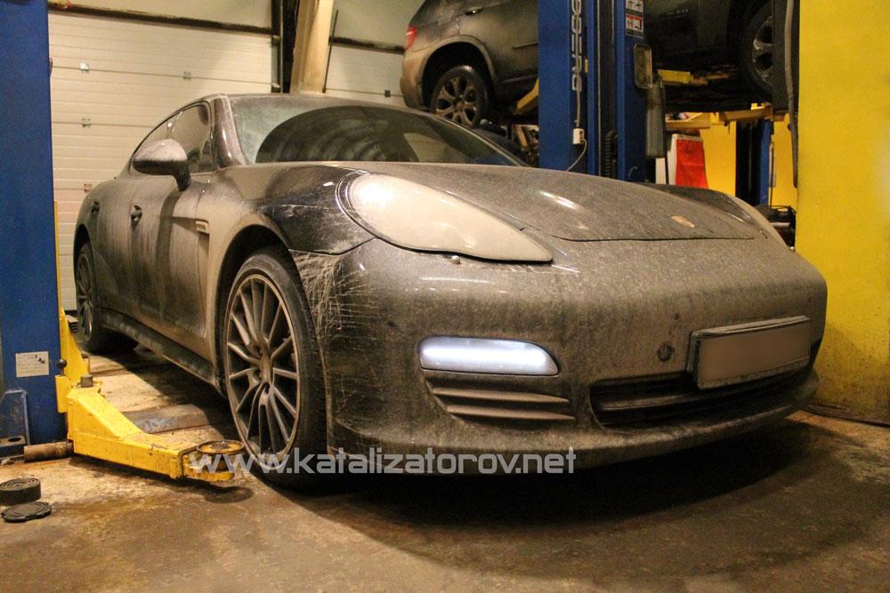 Удаление катализаторов на Porsche Panamera 4s - Катализаторов.НЕТ