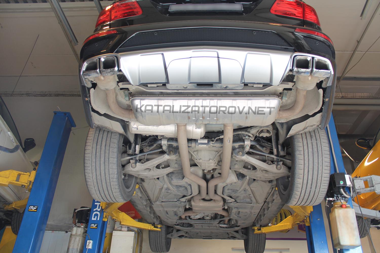 Удаление катализаторов на Mercedes-Benz GL 63 AMG - Катализаторов.НЕТ